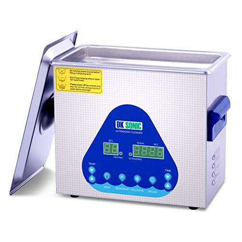 Professional 3L Ultrasonic Cleaner-DK SONIC Sonic Cleaner with Heater and Basket for Denture,Coins,Small Metal Parts,Record,Circuit Board,Daily Necessaries,Tattoo Equipment,Lab Tools,etc