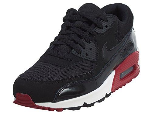 Nike Air Max 90 Essential, Scarpe da Ginnastica Uomo, Bianco (Black/Black/Gym Red/White), 43 EU