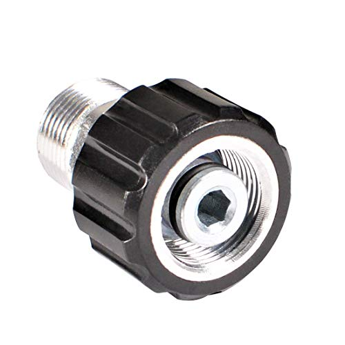 YAMATIC Pressure Washer Adapter for Sun Joe Pressure Washer, 14mm Male Thread to M22 15mm Female Coupler Connect 14mm Pressure Washer Hose with 15mm Electric Power Washer, 4000 PSI