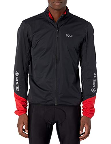 GORE Wear C5 Herren Fahrrad-Jacke GORE-TEX, S, Schwarz/Rot