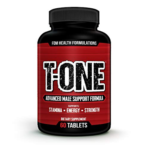 T-ONE 2273mg Testosterone Booster for Men (60 Tablets, 30 Day Supply) Superfood Ingredients Boost Libido, Stamina, Strength, Endurance