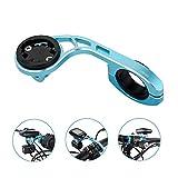 TrustFire - Soporte para bicicleta, para GPS, Ciclocomputador, soporte de manillar para cámara deportiva, Go Pro, Garmin Edge, Bryton - ajustable (negro, azul y rojo), azul