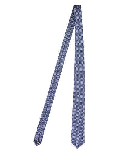 Salvatore Ferragamo Herren 703151 Blau Seide Krawatte