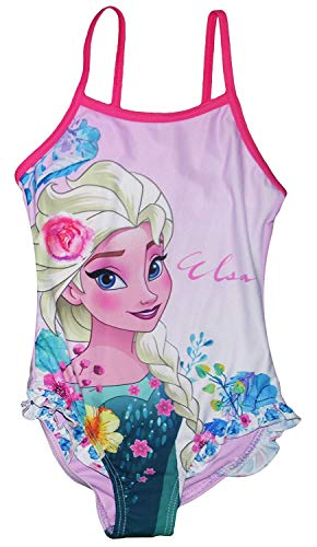 Eiskönigin Frozen völlig unverfroren Badeanzug lila und rosa 4 5 6 8 Jahre 104 110 116 128 (104)