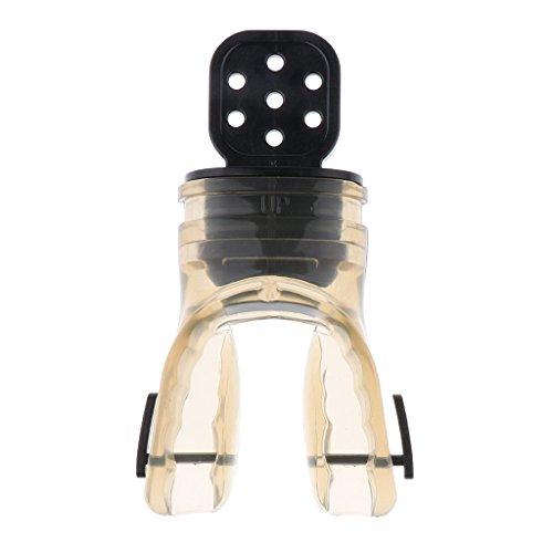 F Fityle Boquilla de Válvula de Mordida Reguladora de Esnórquel de Buceo con Escafandra de Silicona Suave Y Cómoda - Gris
