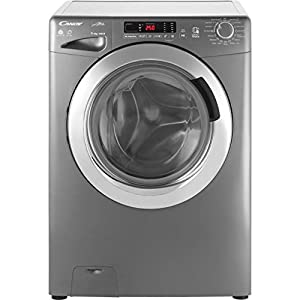 Candy GVSW 496DCR Freestanding Grand'O Vita Washer Dryer, NFC Connected, 9kg+6kg Load, 1400rpm, Graphite