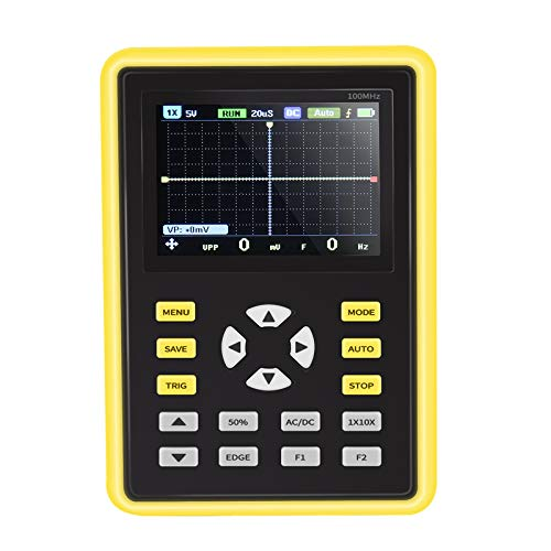 Kacsoo Osciloscopio Digital IPS portátil de mano de 2,4 pulgadas 5012H Osciloscopio portátil frecuencia de muestreo de 500 MS s 100 MHz MultíMetro de Osciloscopio,para Mantenimiento