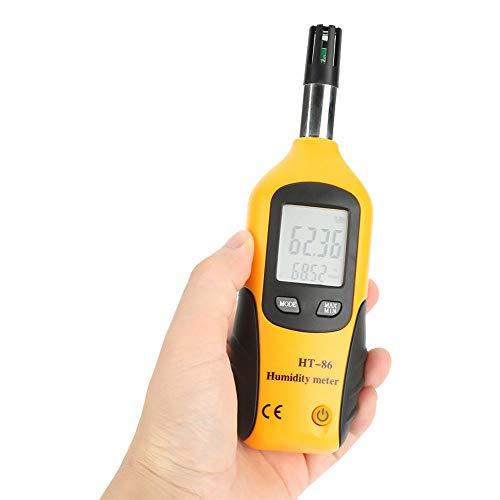 Akozon Termohigrómetro digital portátil, termometro higrometro digital para el hogar, oficina, invernadero
