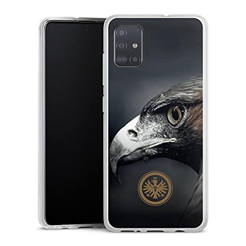 DeinDesign Silikon Hülle kompatibel mit Samsung Galaxy A51 Hülle transparent Handyhülle Eintracht Frankfurt Offizielles Lizenzprodukt Adler