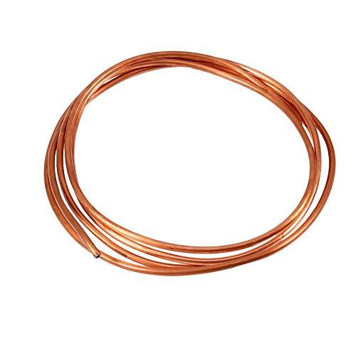 冷凍配管用2M軟銅管パイプ 外径4mm x 内径3mm 導電性 熱伝導性 延性 耐腐食性 反磁性 可塑性 多用途銅製チューブ 広い適用範囲