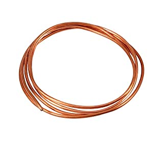 FTVOGUE 2M OD 4 mm x ID 3 mm Tubo de Tubo de Cobre Suave Tuberías de Refrigeración Utilizadas en Fabricación de Cables