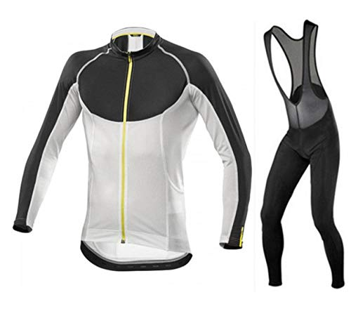T-JMGP Damen Radtrikot Atmungsaktive Fahrradbekleidung Set,Mountainbike-Bekleidung, Herren-Fahrradbekleidung Langarmjacke Fahrradbekleidung/Windmantel-Grau_M.