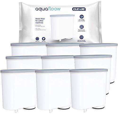 Aquafloow Wasserfilter kompatibel mit Philips AquaClean CA6903/10 CA6903/22 CA6903 Kalkfilter, Aqua Clean Filterpatrone für Philips Kaffeevollautomaten, 9er Pack