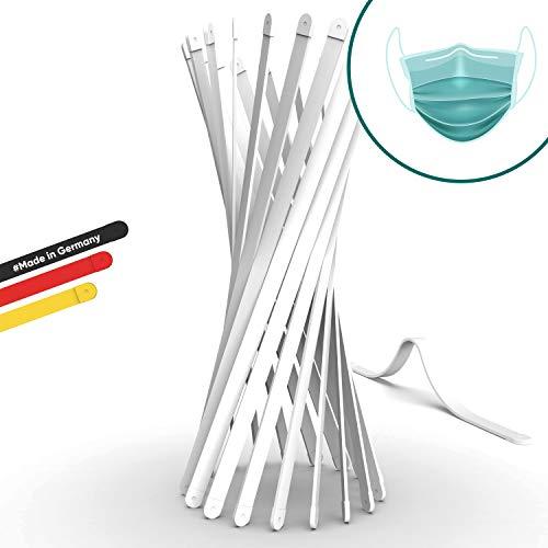ENERO DR HELD's hochwertige Nasenbügel für Mundschutz - Neues Konzept 2020, DE Versand - ummantelter Draht für Mundschutz, rostfrei & waschbar bis 90°C (25 Stück Premium, 150mm)