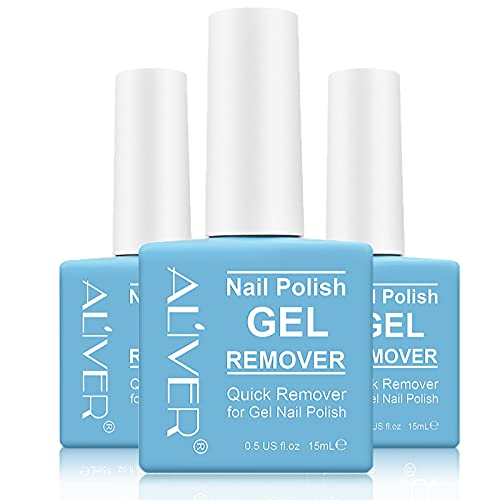 3 Packs Nail Polish Remover,Easily & Quickly Removes Soak-Off Gel Polish,Professional Non-Irritating Nail Polish Remover,2-3 Minutes Easily & Quickly Don't Hurt Your Nails