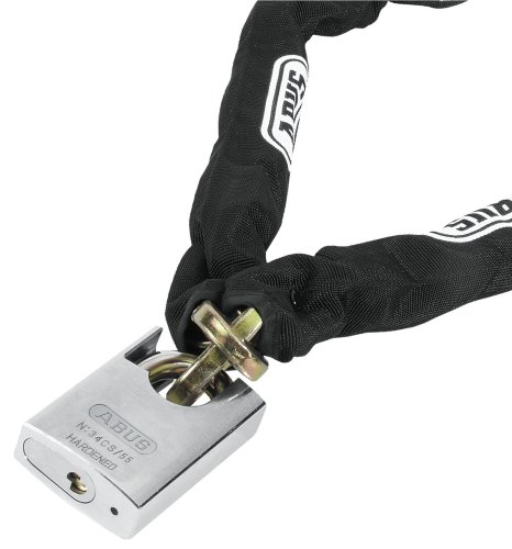 Abus 34 CS 55 Platinum - Cadena antirrobo con candado, color negro