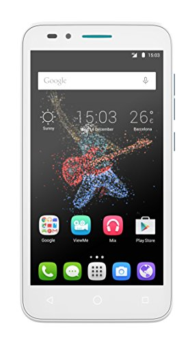 Alcatel Onetouch Go Play 12,7 cm (5 Zoll) Smartphone (IPS Display, 8 Megapixel Kamera, LTE, Android 5.0) weiß/blau