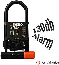 Crystal Vision Anti Theft Loud 130db Alarm Heavy Duty Bike Lock Weather Proof Multi Purpose (U Lock 14mm)
