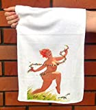 FlonzGift Hand Towel Hilda Happy Running Jumping Chubby Redhead Pinup Sexy Girl Hilda by Duane Bryers Microfibre Towel 12'x25'