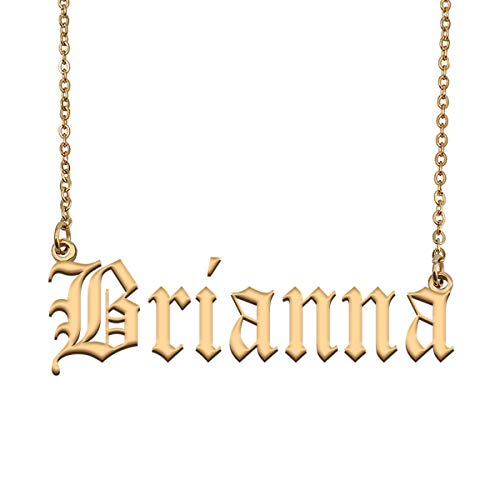 Brianna Name Necklace in Gold Best Mother's Day Jewelry Gifts