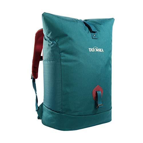 Tatonka Daypack Grip Rolltop Pack - Kurierrucksack mit Rollverschluss, Laptopfach und 10-Jahre Produktgarantie - Damen und Herren - 34 Liter - teal green