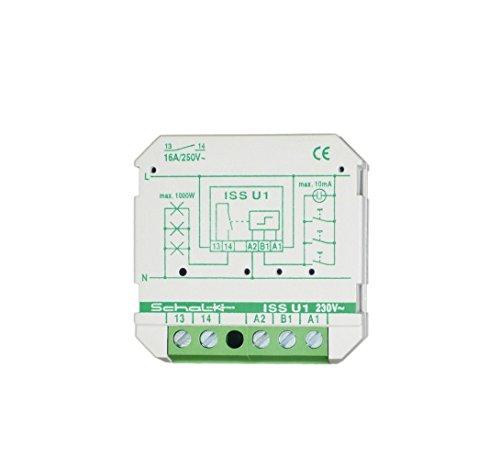 Preisvergleich Produktbild Schalk Impulsschalter ISS U1 230VAC, 1S, 16A Stromstoßschalter 4046929601023