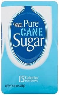 Great Value Pure Cane Sugar, 10 lb