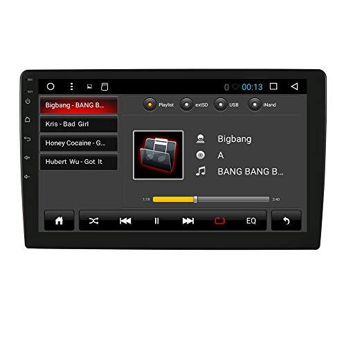Android 10 Universal Car Stereo Double DIN Car GPS Navigation con Pantalla táctil de 9 Pulgadas Soporte Mirror-Link BT WiFi / 4G USB/SD SWC DVR OBD2 Dab +