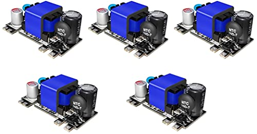 TECNOIOT 5 pieces AC-DC 5V 2000mA Low Ripple Switching step-down power supply module