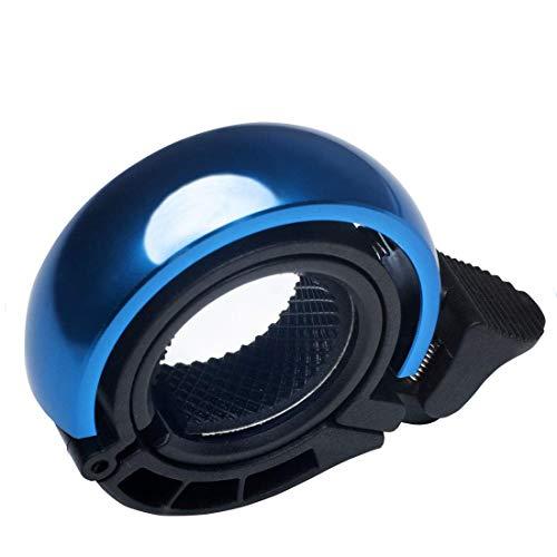 Suerte Mini Innovative O-Bike-Klingel, unsichtbare Fahrradklingel, Fahrrad-Mountainbike-Alarmhornhornring, Klingel laut, Sicherheitsalarm, für 22,2-23 mm Lenker, Blau