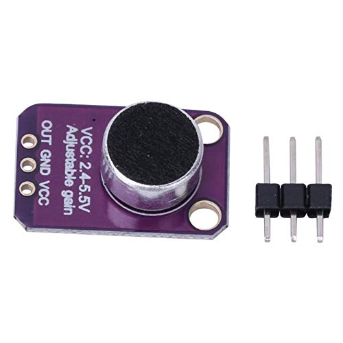 Marvvdy Sensormodul für Mikrofonvorverstärker, Elektretmikrofonverstärker MAX4466 Modul Einstellbare Verstärkung Blue Board für Arduino
