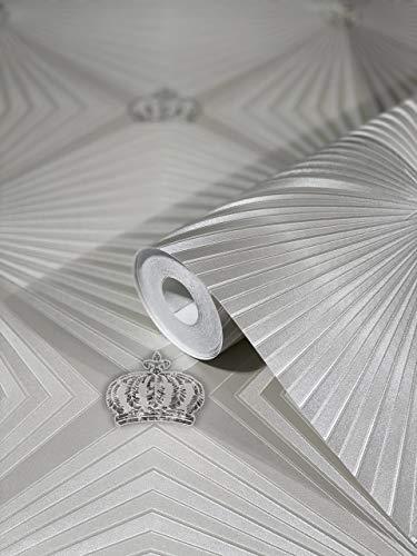 Tapete Pearl Kronen Edelstein Klassisch Kollektion Glööckler Imperial von marburg für Schlafzimmer Wohnzimmer oder Küche Made in Germany 10,05m X 0,70m 54841 BEKANNT AUS DEM TV!