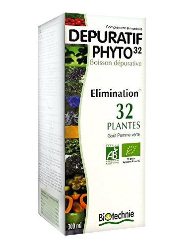 Biotechnie - Dépuratif phyto 32 bio - 300 ml flacon - Le nettoyage complet du corps