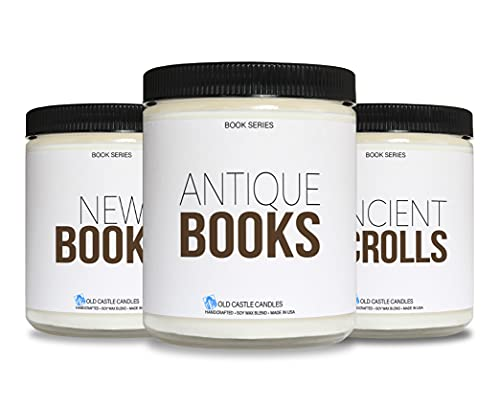 Literary Gift The Library Candle Set - 3, 4 Ounce Soy Candles