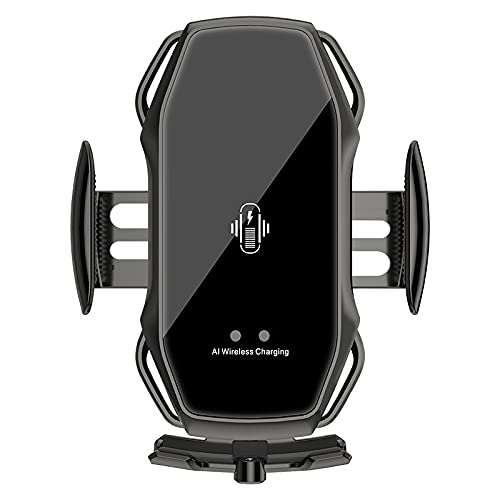 Soporte Movil TeléFono Accesorios de Coche con Sensor infrarrojo Absorbente magnético Universal de Carga inalámbrica para Coche