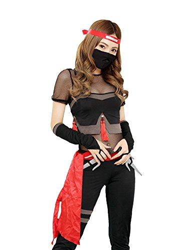 [Malymoon] オリジナル くノ一 くのいち 忍者 コスチューム コスプレ ハロウィン 衣装 【ml6231】