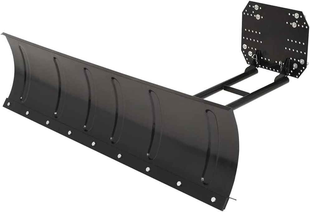 Over item handling NusGear Snow Plough for ATV Powder-C Material: discount Black 59.1