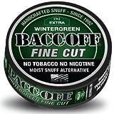 BaccOff, Original Extra Wintergreen Fine Cut, (10 Cans) by BaccOff