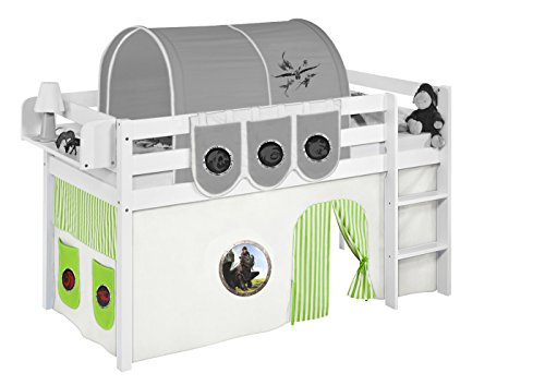 Lilokids Vorhang Dragons Grün - für Hochbett, Spielbett und Etagenbett