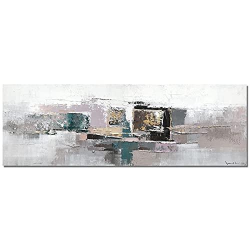 Sin marco Cuadro Modernos Lago en primavera abstracto Lienzo Pintura Póster Cartel HD Impresión de Imagen cuadros decorativos Decoración de la pared del dormitorio de la sala de estar 50 * 150 cm
