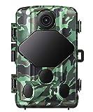 Usgood - Cámara de Caza por Infrarrojos, vigilancia de 20 MP, 1080P, visión Nocturna, Impermeable, IP66, cámara de Juegos Nocturna por Infrarrojos activada por el Movimiento