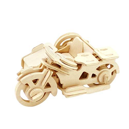 GODNECE 3D Bausatz Holz, Motor Dreirad Modellbausatz Holz Bausatz 3D Holzbausatz für Kinder Erwachsene