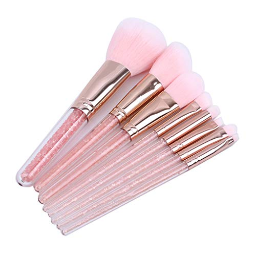 Faliya 8PCS Maquillage Brush Set Premium Synthetic Foundation Face Powder Blush Eyeshadow Brushes Makeup Brush Kit with Bag