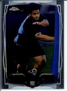 2014 Topps Mini Chrome Football Rookie Card #175 Aaron Donald - St. Louis Rams