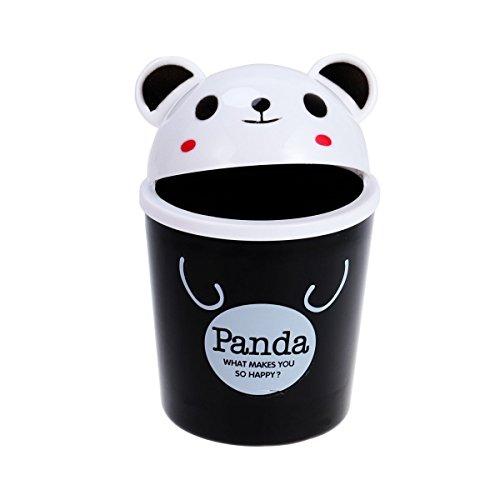 Mini Papelera para Escritorio - Bote de basura de oficina de animales lindo, basura para oficina para el uso de la habitación de los niños (panda)