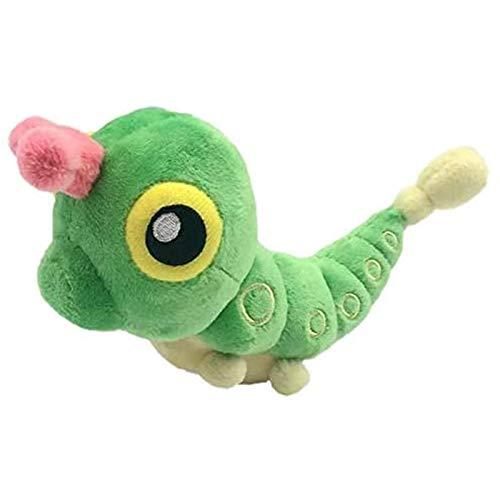 Qqfubu 1 Serie Linda Caterpillar Verde Muñeca Muñeca Insecto Big Butterfly First Edition Doll Cumpleaños Regalo Pareja Teléfono Móvil Colgante