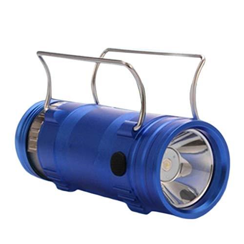 Nouvelle lampe de poche de pêche portable multifonctionnelle de qualité supérieure 5W double source de lumière F4 nouvelle marque - bleu foncé