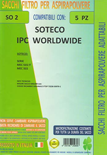 FILTER SO2 Conf. 5PZ Sacchetti soteco ipc Worldwide MEC 515 it MEC 315