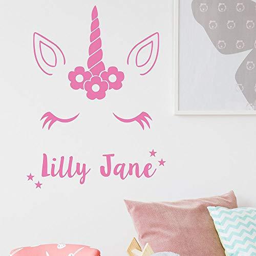 Anime pony pegatinas de pared de la habitación de los niños vinilo personalizado calcomanías de arte de pared dormitorio lindo decoración del hogar murales