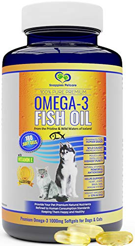 Omega 3 Fish Oil For Dogs and Cats - Wild Icelandic Pure, Odour Free...